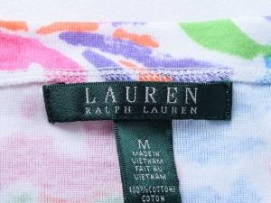 Lauren by Ralph Lauren 로렌 바이 랄프로렌, Lauren Ralph Lauren 컬러풀 플로럴 코튼 탑