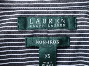 Lauren by Ralph Lauren 로렌 바이 랄프로렌, Lauren Ralph Lauren 블랙 핀스트라이프 셔츠