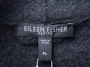 EILEEN FISHER 아일린 피셔 다크 챠콜 메리노울 100% 가디건