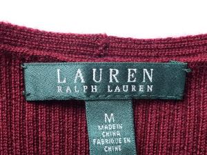 Lauren by Ralph Lauren 로렌 바이 랄프로렌, Lauren Ralph Lauren 와인 니트 플레어 원피스