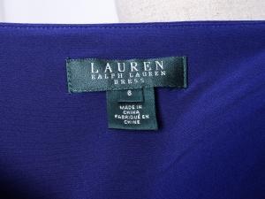 Lauren by Ralph Lauren 로렌 바이 랄프로렌, Lauren Ralph Lauren 랩스타일 주름 저지 원피스