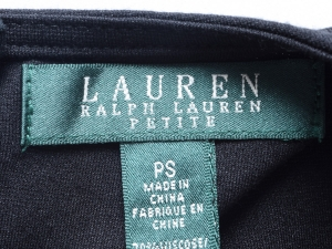 Lauren by Ralph Lauren 로렌 바이 랄프로렌, Lauren Ralph Lauren 블랙 앤 화이트 매트 저지 원피스(SIZE:55-55반)