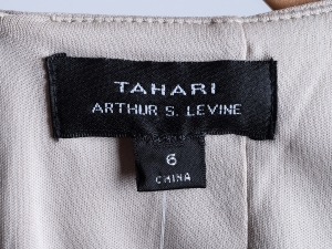 Tahari by Arthur S. Levine 타하리, Tahari by ASL, Tahari ASL 스플릿넥 리본타이 원피스(SIZE:66-66반)