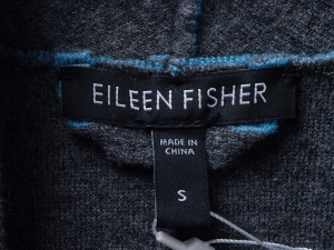 EILEEN FISHER 아일린 피셔 배색 숄칼라 울 자켓