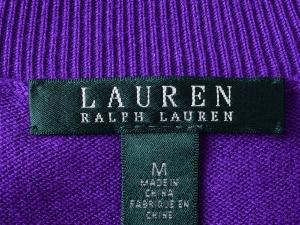 Lauren by Ralph Lauren 로렌 바이 랄프로렌, Lauren Ralph Lauren 퍼플 A라인 니트 목폴라