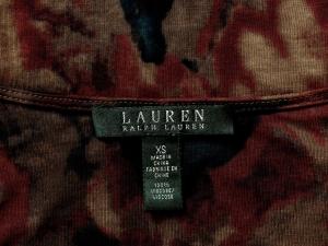 Lauren by Ralph Lauren 로렌 바이 랄프로렌, Lauren Ralph Lauren 브라운 플라워 저지 원피스