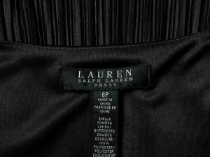 Lauren by Ralph Lauren 로렌 바이 랄프로렌, Lauren Ralph Lauren 크로스브이넥 카키 주름원피스