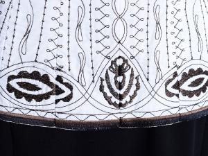 T Tahari 타하리, T. Tahari 자수 화이트 코튼 자켓(SIZE : 55반)