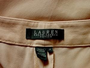 Lauren by Ralph Lauren 로렌 바이 랄프로렌, Lauren Ralph Lauren 베이지 버튼 울 팬츠