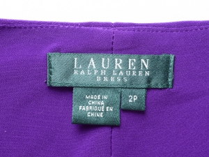 Lauren by Ralph Lauren 로렌 바이 랄프로렌, Lauren Ralph Lauren 트위스트 랩스타일 원피스