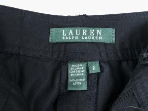 Lauren by Ralph Lauren 로렌 바이 랄프로렌, Lauren Ralph Lauren 블랙 스트레이트 면바지