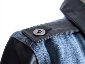 Urban Outfitters 얼반아웃피터스, 어반아웃피터스 레더 패널 데님자켓