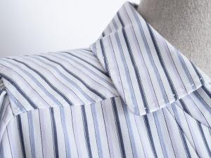 Elie Tahari 엘리 타하리 블루 V넥 스트라이프 셔츠(SIZE:77-77반)