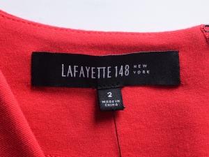 LAFAYETTE 148 NEW YORK 라파예트 148, 라파예트 148 뉴욕, LAFAYETTE 148 플리츠 V넥 넥크라인 원피스(SIZE:55반-66)