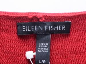 EILEEN FISHER 아일린 피셔 레드 비대칭라인 울 스웨터 원피스