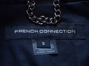 French Connection 프렌치 커넥션, FCUK 레더 칼라 심플 트렌치 코트(SIZE:55반-66반)