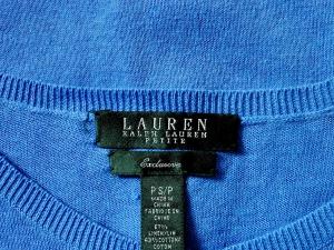 Lauren by Ralph Lauren 로렌 바이 랄프로렌, Lauren Ralph Lauren 라운드 블루 베이직가디건