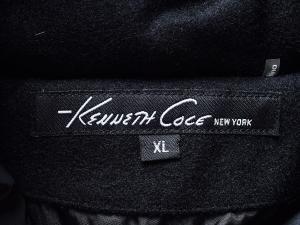 Kenneth Cole New York 케네스콜 뉴욕 블랙 사선 벨티드 패딩점퍼(SIZE:77/88)