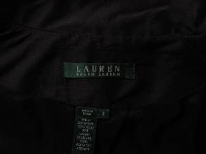 Lauren by Ralph Lauren 로렌 바이 랄프로렌, Lauren Ralph Lauren 블랙 새틴 실크 자켓