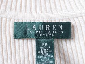 Lauren by Ralph Lauren 로렌 바이 랄프로렌, Lauren Ralph Lauren 목폴라 슬림라인 니트 탑