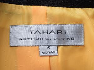 Tahari by Arthur S. Levine 타하리, Tahari by ASL, Tahari ASL 메리골드 앤 블랙 스커트 수트(SIZE:66반-77)
