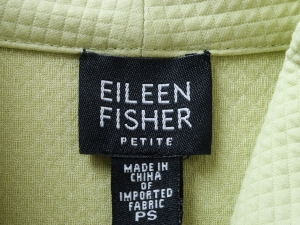 EILEEN FISHER 아일린 피셔 라임 심플 집업 자켓(SIZE:66반-77)