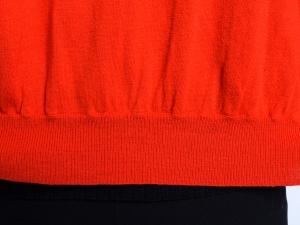 DKNY 도나카란 뉴욕, 디케이앤와이 숄카라 캐시미어 레드 가디건(SIZE:77-88)