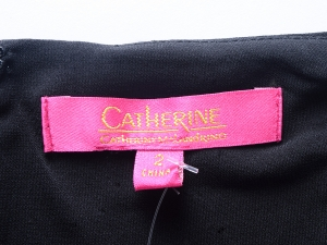 Catherine Malandrino CATHERINE CATHERINE MALANDRINO 서플리스 네크라인 개더 원피스(SIZE:55)